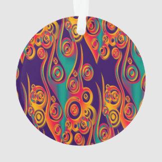 Arte del modelo del tatuaje - llamas y círculos