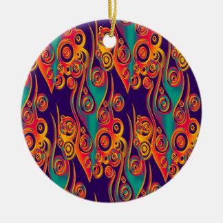 Arte del modelo del tatuaje - llamas y círculos adorno de navidad