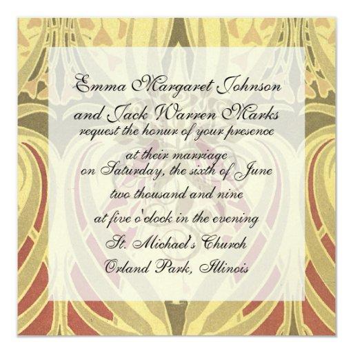 arte del modelo del vintage del extracto del invitación 13,3 cm x 13,3cm