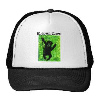 Arte del mono del gorila gorras