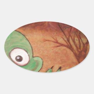 arte del monstruo calcomania de oval