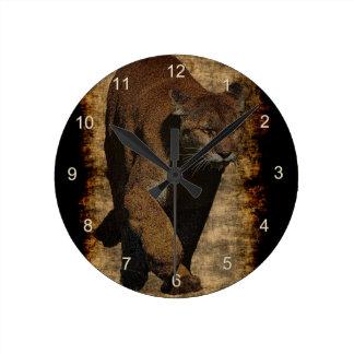 Arte del Montaña-León del puma en un reloj de pare