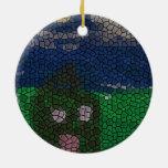 Arte del mosaico adorno de navidad