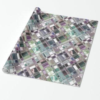 Arte del mosaico de la piedra preciosa del vitral papel de regalo