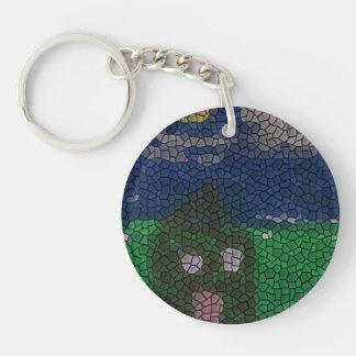 Arte del mosaico llaveros