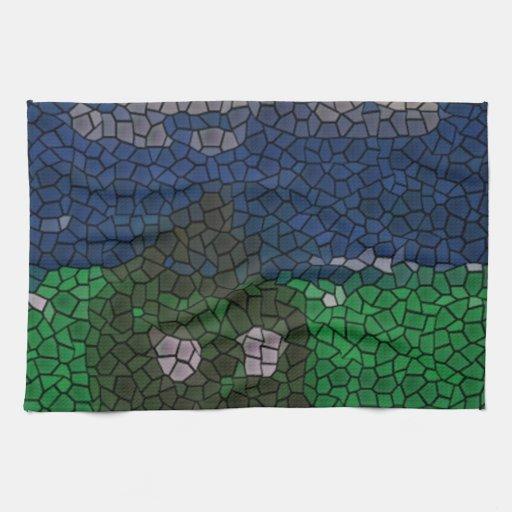 Arte del mosaico toallas