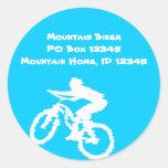 Arte del motorista de la montaña pegatinas