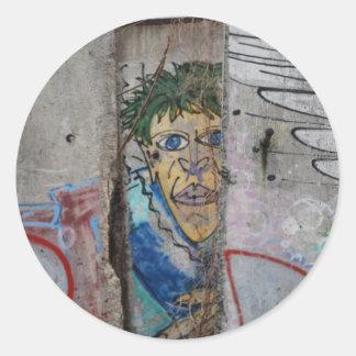 Arte del muro de Berlín - Berlín, Alemania Pegatina Redonda