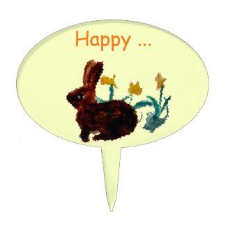 Arte del narciso del conejo de la primavera figuras para tartas