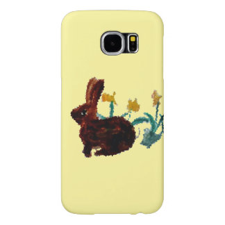 Arte del narciso del conejo de la primavera funda samsung galaxy s6