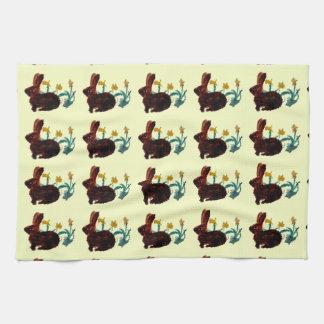 Arte del narciso del conejo de la primavera toallas