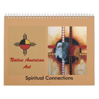 . Arte del nativo americano. Calendario