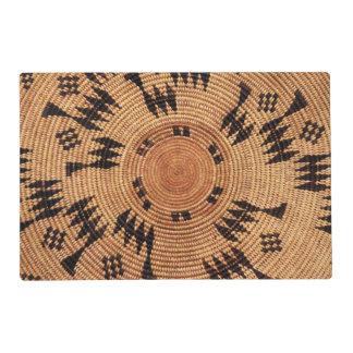 Arte del nativo americano de Chumash Tapete Individual