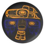 Arte del nativo americano: Thunderbird del Tlingit Plato De Comida