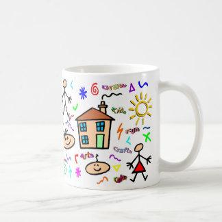 Arte del niño taza básica blanca
