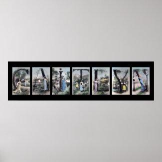 Arte del nombre de letra del alfabeto de CAITLYN Posters
