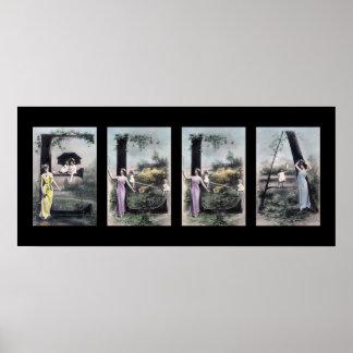 Arte del nombre de letra del alfabeto de ELLA Posters