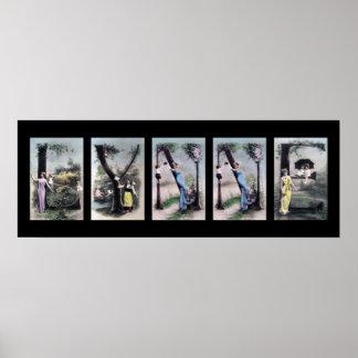 Arte del nombre de letra del alfabeto de LYNNE Poster