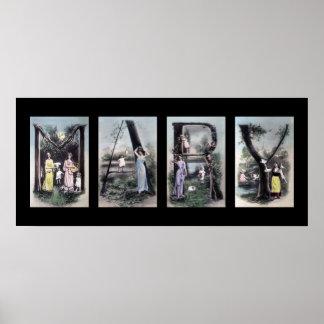 Arte del nombre de letra del alfabeto de MARIA Impresiones