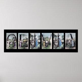 Arte del nombre de letra del alfabeto de OLIVIA Impresiones