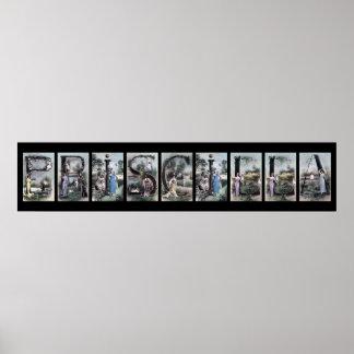 Arte del nombre de letra del alfabeto de PRISCILLA Posters