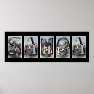 Arte del nombre de letra del alfabeto de SAMOA Poster