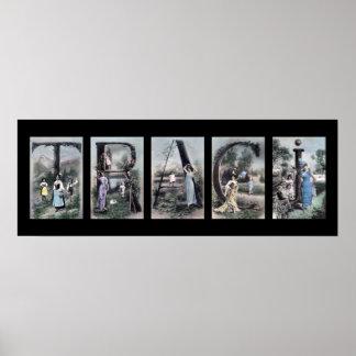 Arte del nombre de letra del alfabeto de TRACI Poster