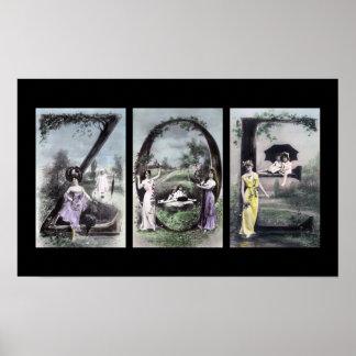 Arte del nombre de letra del alfabeto de ZOE Impresiones