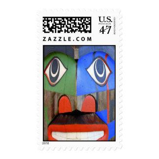 Arte del noroeste del indio de la costa sello postal