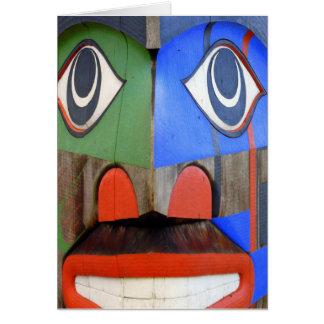 Arte del noroeste del indio de la costa tarjeta de felicitación