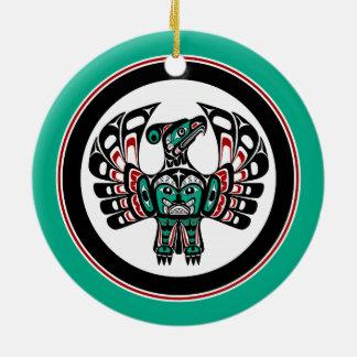 Arte del noroeste Thunderbird del Haida de la Adorno