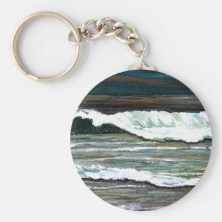 """Arte del océano de CricketDiane del """"paisaje marin Llavero Redondo Tipo Pin"""