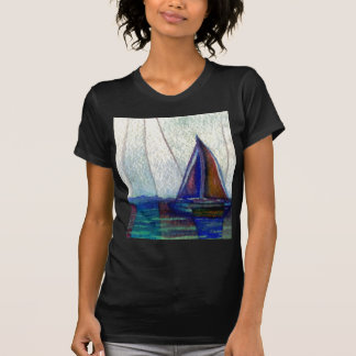 """Arte del océano de CricketDiane del """"velero"""" Camisetas"""