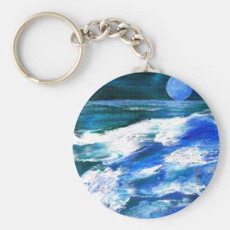 Arte del océano de CricketDiane - ondas del mar de Llavero Redondo Tipo Pin