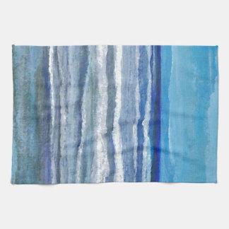 Arte del océano de la opinión de la playa toalla de cocina