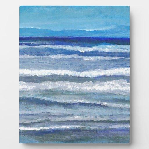 Arte del océano de la opinión de la playa placas