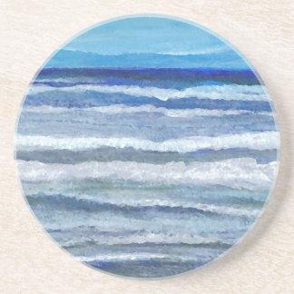 Arte del océano de la opinión de la playa posavaso para bebida