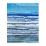 Arte del océano de la opinión de la playa postal