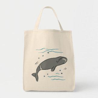 Arte del océano de los cetáceos de los mamíferos m bolsa lienzo