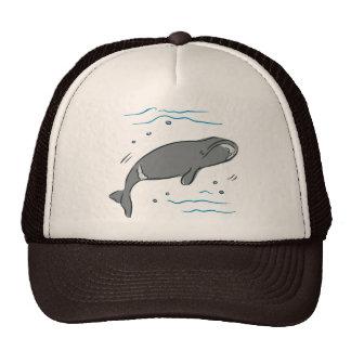 Arte del océano de los cetáceos de los mamíferos m gorros bordados