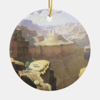 Arte del oeste americano del vintage, Gran Cañón Adorno Redondo De Cerámica