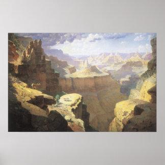 Arte del oeste americano del vintage, Gran Cañón Póster
