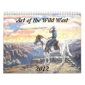 Arte del oeste salvaje calendario
