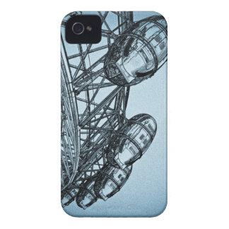 Arte del ojo de Londres iPhone 4 Case-Mate Cárcasas
