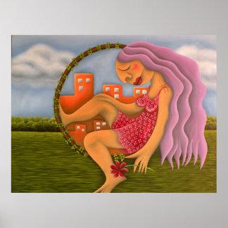 Arte del óleo del pintura de los paisajes del DOS