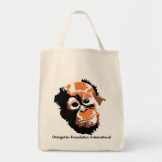 Arte del orangután bolsas de mano