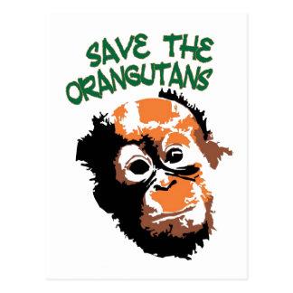 Arte del orangután tarjetas postales