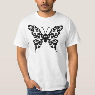 Arte del Ornamental del diseñador de la mariposa Remeras