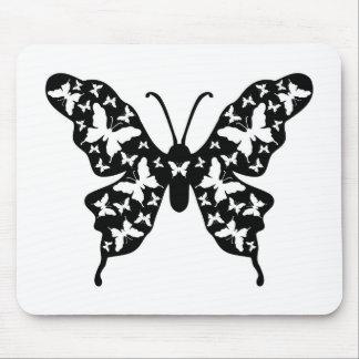 Arte del Ornamental del diseñador de la mariposa Tapetes De Ratones