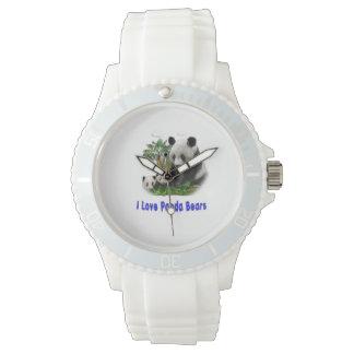 Arte del oso de panda relojes